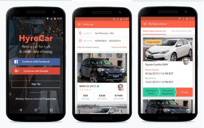 Hyre Car App